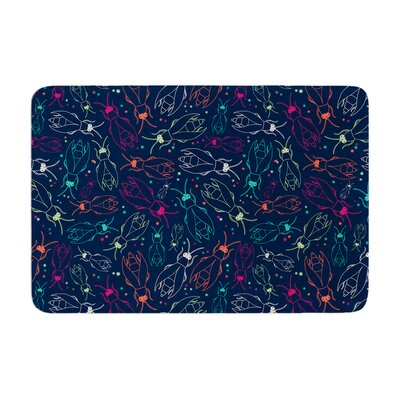 Laura Escalante Fireflies Midnight Garden Dark Memory Foam Bath Rug