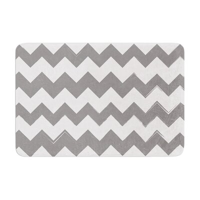 Candy Cane Memory Foam Bath Rug Color: Gray