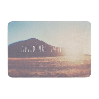 Laura Evans Adventure Awaits You Coastal Typography Memory Foam Bath Rug