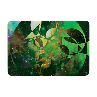 Matt Eklund Galactic Brilliance Geometric Memory Foam Bath Rug