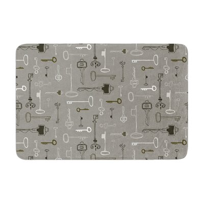 Laurie Baars Keys Memory Foam Bath Rug Color: Gray