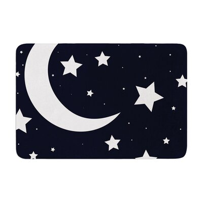 Moon and Stars Memory Foam Bath Rug
