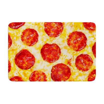 Pizza My Heart Pepperoni Cheese Memory Foam Bath Rug
