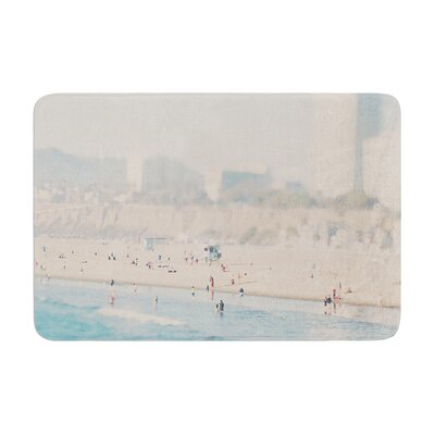 Laura Evans Santa Monica Beach Memory Foam Bath Rug