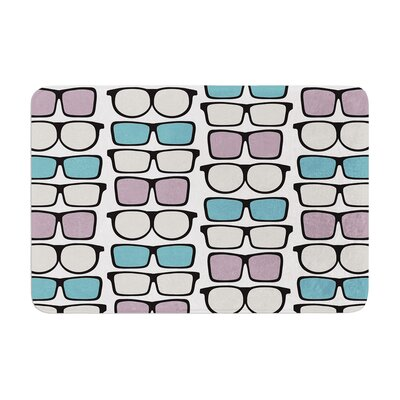Michelle Drew Spectacles Geek Chic Memory Foam Bath Rug