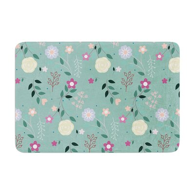 Louise Flora Flowers Memory Foam Bath Rug