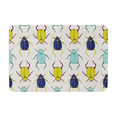 Laurie Baars Beetles Memory Foam Bath Rug