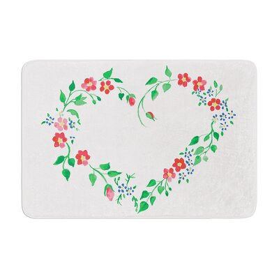Louise Heart Memory Foam Bath Rug