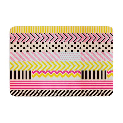 Louise Machado Decorative Tape Memory Foam Bath Rug