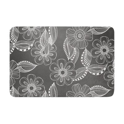 Louise Machado Floral Ink Memory Foam Bath Rug