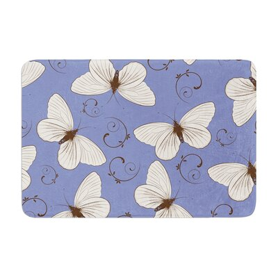 Louise Butterflies Memory Foam Bath Rug