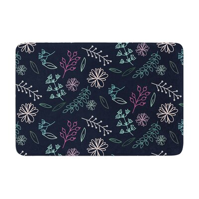 Louise Flower III Memory Foam Bath Rug
