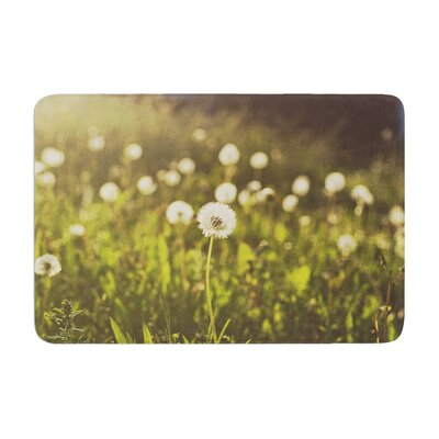 Libertad Leal As You Wish Dandelions Memory Foam Bath Rug