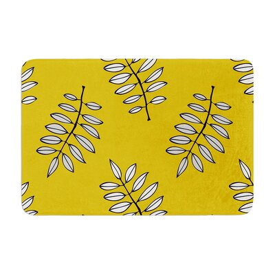 Laurie Baars Pagoda Leaf Leaves Memory Foam Bath Rug