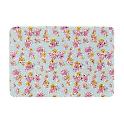Laura Escalante Paper Flower Memory Foam Bath Rug