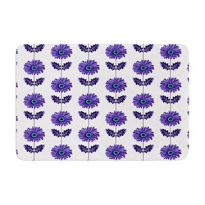 Laura Escalante Gerbera Flower Memory Foam Bath Rug