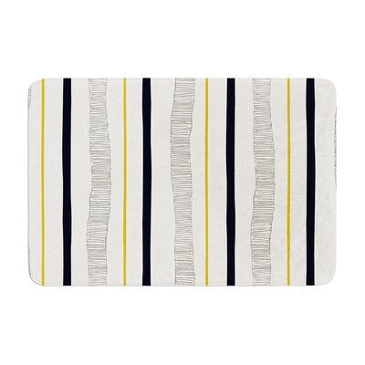 Laurie Baars Textured Stripes Abstract Lines Memory Foam Bath Rug