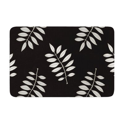 Laurie Baars Pagoda Leaf Floral Illustration Memory Foam Bath Rug