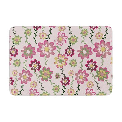 Nika Martinez Romantic Flowers in Floral Memory Foam Bath Rug