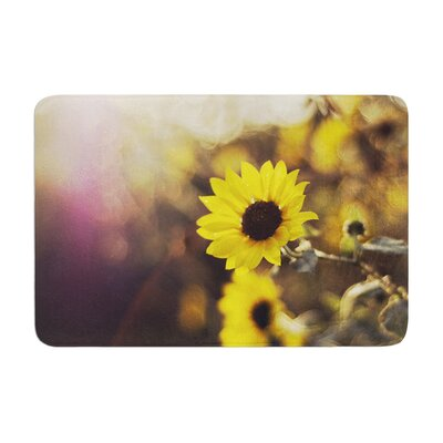 Libertad Leal Magic Light Flower Memory Foam Bath Rug