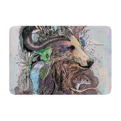 Mat Miller Forest Warden Bear Memory Foam Bath Rug
