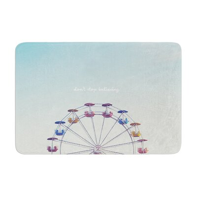 Libertad Leal Dont Stop Believing Ferris Wheel Memory Foam Bath Rug