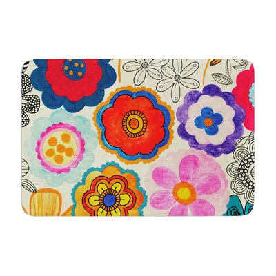 Louise Machado Charming Floral Memory Foam Bath Rug