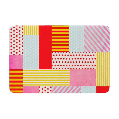 Louise Machado Geometric Pop Abstract Memory Foam Bath Rug