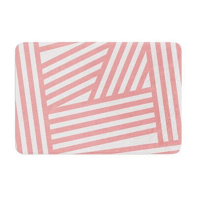 Louise Machado Rose Stripes Memory Foam Bath Rug