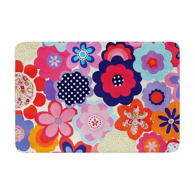 Louise Machado Patchwork Flowers Memory Foam Bath Rug
