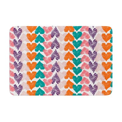 Louise Machado Hearts Memory Foam Bath Rug