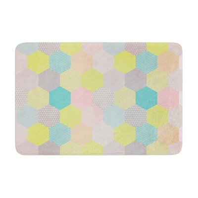 Louise Machado Hexagon Geometric Memory Foam Bath Rug