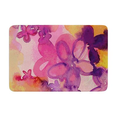 Louise Machado Dissolved Flowers Memory Foam Bath Rug