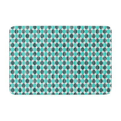 Michelle Drew Distressed Circles Memory Foam Bath Rug