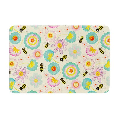 Louise Machado Floral Bee Memory Foam Bath Rug