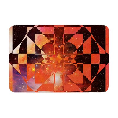 Matt Eklund Galactic Hope Bittersweet Memory Foam Bath Rug Color: Red/Orange