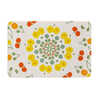 Laura Nicholson Ranunculas Floral Memory Foam Bath Rug