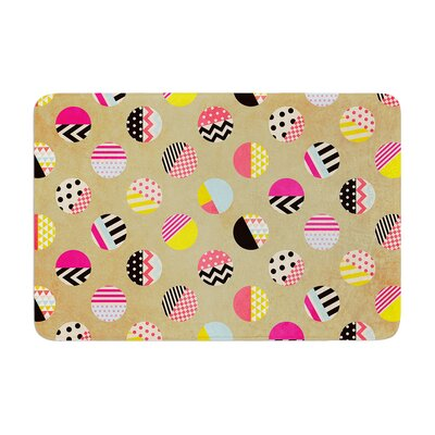 Louise Machado Fun Circle Geometric Memory Foam Bath Rug