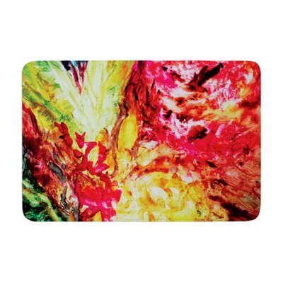 Mary Bateman Passion Flowers I Memory Foam Bath Rug