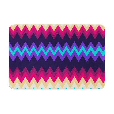 Nika Martinez Surf Chevron Memory Foam Bath Rug