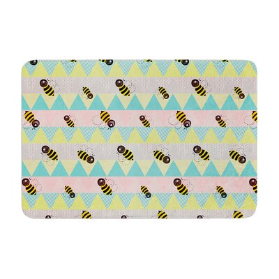 Louise Machado Little Bee Chevron Memory Foam Bath Rug