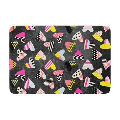 Louise Machado Pieces of Heart Memory Foam Bath Rug