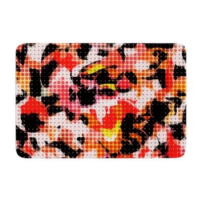 Matthias Hennig Camouflage Grid Memory Foam Bath Rug