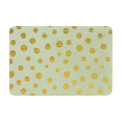 Nika Martinez Dots Memory Foam Bath Rug Color: Mint