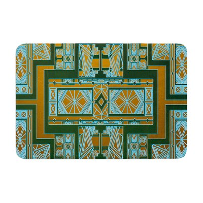 Nika Martinez Art Deco and Coral Memory Foam Bath Rug Color: Green/Blue
