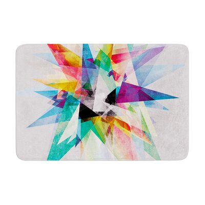Mareike Boehmer Colorful Abstract Memory Foam Bath Rug