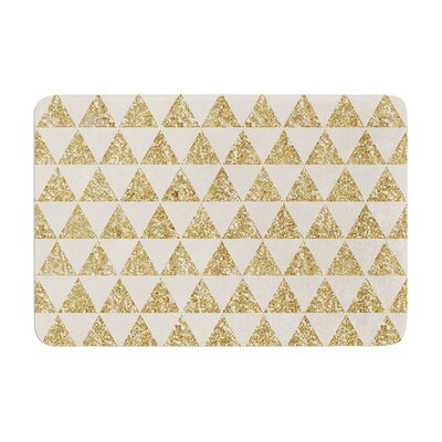 Nika Martinez Glitter Triangles Memory Foam Bath Rug