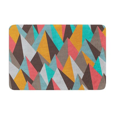 Michelle Drew Mountain Peaks I Memory Foam Bath Rug