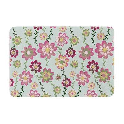 Nika Martinez Romantic Floral Memory Foam Bath Rug