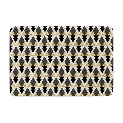 Nika Martinez Glitter Triangles Geometric Memory Foam Bath Rug